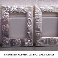 Embossed picture frames