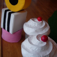 Giant Cupcakse and Licourice Allsorts